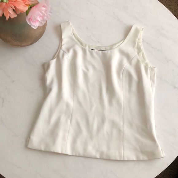 Macy S Tops Kasper Ivory Dressy Tank With Side Zipper Poshmark